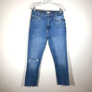 Zara Woman High Waisted Mom Jeans